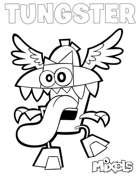 lego paw patrol coloring pages mixels coloring page jinky lego mixels pinterest