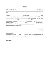 Affidavit Template Word by 7 Affidavit Form Templates Word Excel Pdf Formats