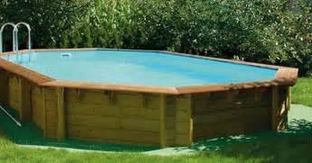 piscine hors sol bois piscine hors sol en bois cerland 171 odyssea 187 octogonale de