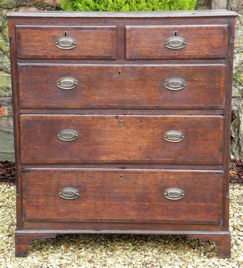 Oversized Chest Of Drawers by Large Georgian Oak Chest Of Drawers Antiques Atlas