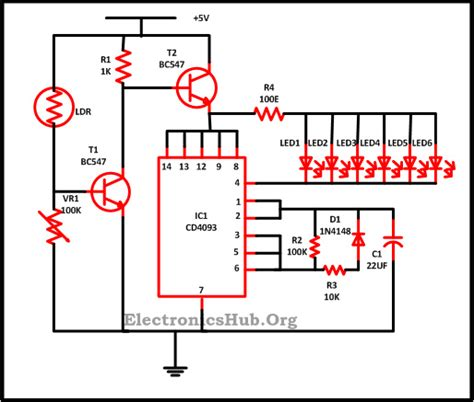 led lights circuit diagram and working