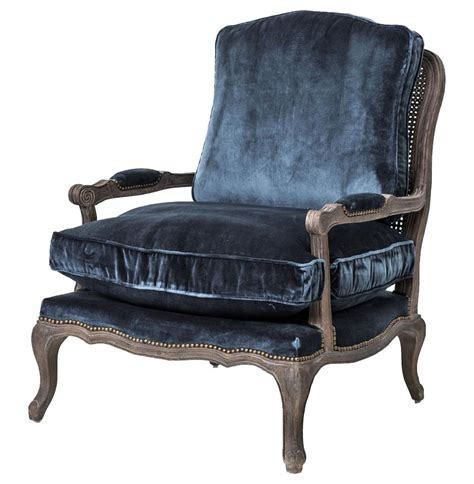 bergere armchair sasha blue velvet french style oak bergere arm chair