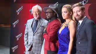voice judges 2015 usa rita ora attends early morning photo call for the voice uk