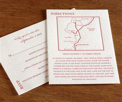 wedding invitation directions how to word the directions card for your wedding letterpress wedding invitation