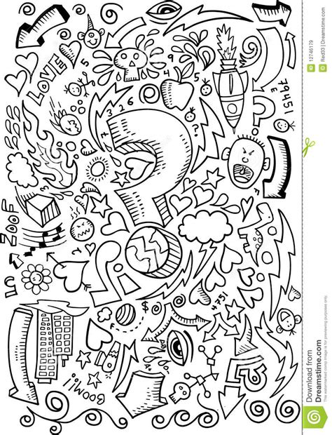doodle and sketchbook a coloring activity and doodle book for of all ages books doodle sketch drawing vector royalty free stock images