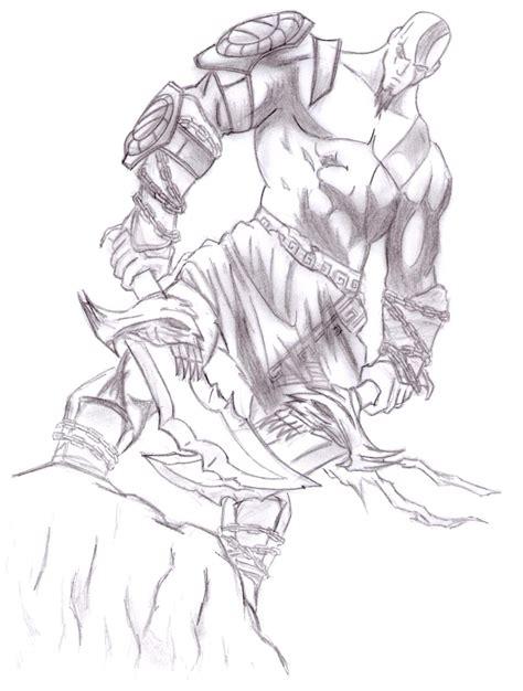 imagenes de kratos para dibujar faciles dibujos anime god of war 3 kratos