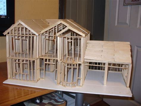house models to build halloween crafts using popsicle sticks craft stick house
