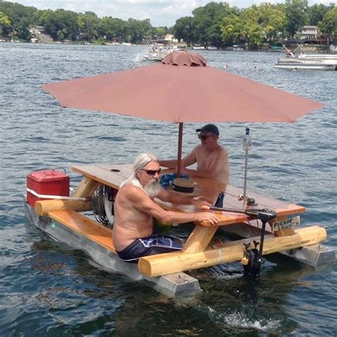 picnic table pontoon awesome redneck moment the redneck pontoon picnic table