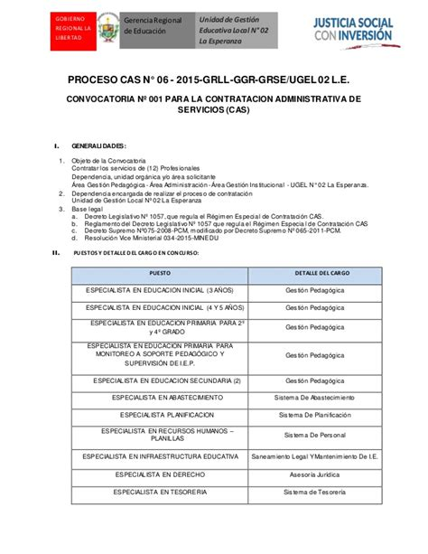 convocatoria cas gobierno regional de arequipa convocatoria cas 06