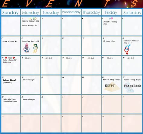 Calendars Templates Calendar Of Events Template Great Printable Calendars