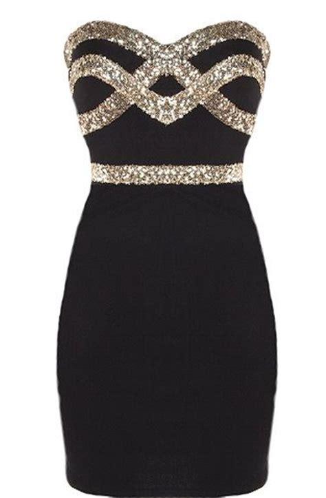 New Gold Feminim black dress new year s and feminine