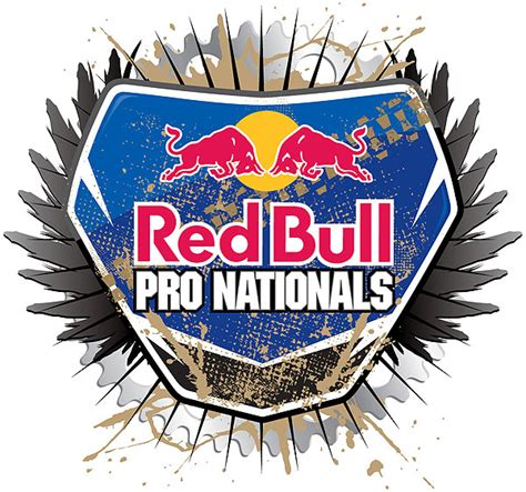 pro national motocross logo red bull