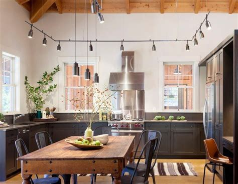 Suspended Kitchen Lighting Nb Design Kitchens U Shaped Kitchen Industrial Kitchen Track Lighting Kitchen Track