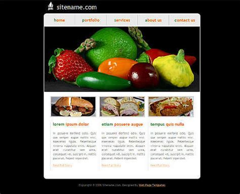 cool dreamweaver templates dreamweaver css cooking templates