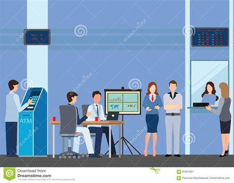 bank consulting access to financial services to banks stock vector