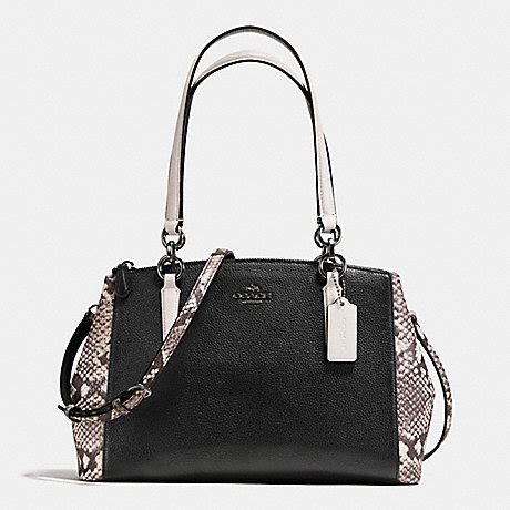 2 Die 4 Coach Multi Snap Earrings by Coach F57507 Small Christie Carryall With Snake Embossed