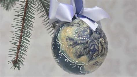 tutorial lavori decoupage tutorial decoupage palle di natale bricolage