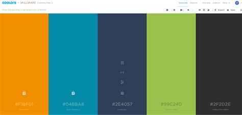how to create color scheme from two colors graphic