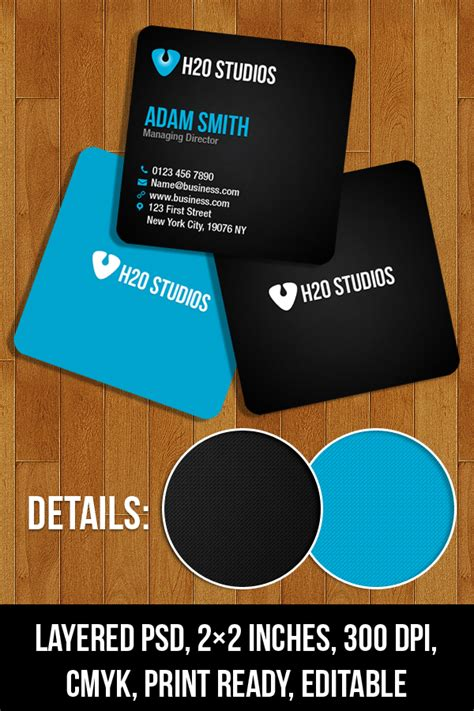 mini card templates 20 free business card templates psd psd