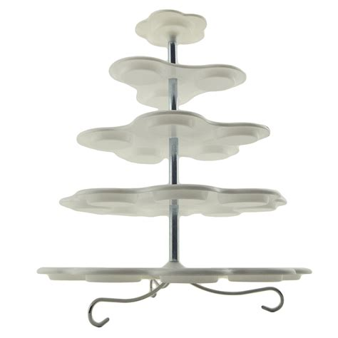 Tier Acrylic 5 tier white plastic cupcake holder display stand tower