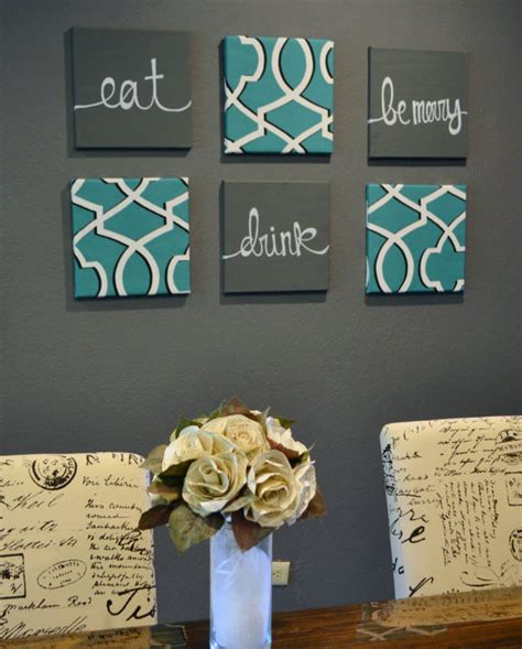 Live Love Laugh Home Decor eat drink amp be merry wall art pack of 6 canvas by