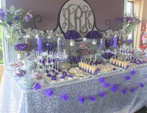 "Purple & Gray Glam / Wedding ""Purple & Gray Dessert Table"