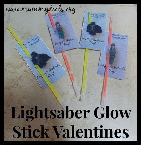 printable star wars valentines with glow stick lightsaber glow stick valentines