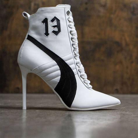 white sneaker heels x fenty by rihanna sneaker heels white