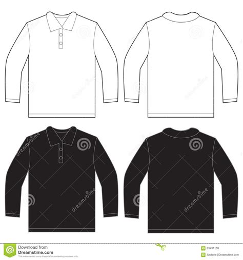 designing a sleeve template black white sleeve polo shirt design template stock