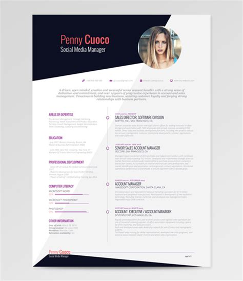 cv free template 50 beautiful free resume cv templates in ai indesign
