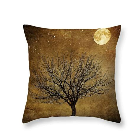 primitive couch pillows primitive grunge moon and tree throw pillow decorative pillows
