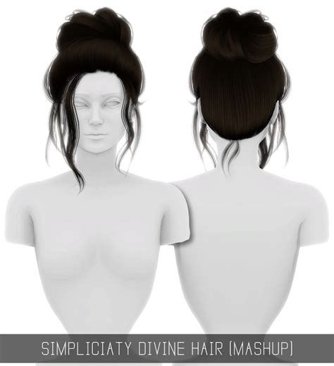 simplicity hair cc sims 4 sims 4 cc s the best divine hair mashup by