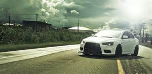 Mitsubishi Evo X Wallpaper Clouds Cars Photography Mitsubishi Sunlight Tuning