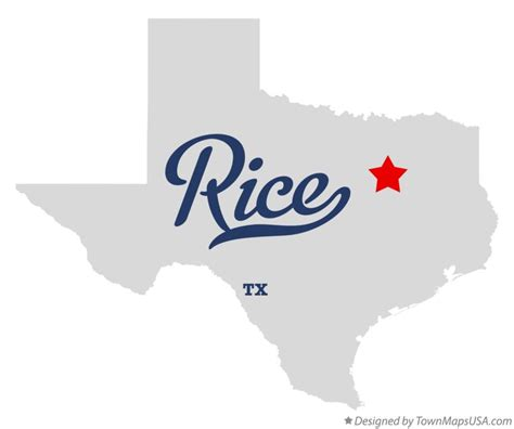 rice texas map map of rice tx texas