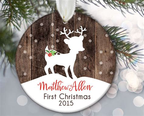 baby s first christmas ornament personalized christmas