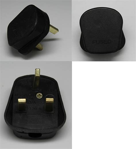 J910 Black j910 g coloured electrical plugs ac power cord 3 pin