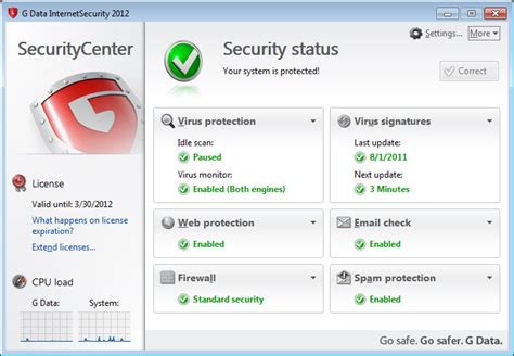 test g data security 2012 for windows 7 113183