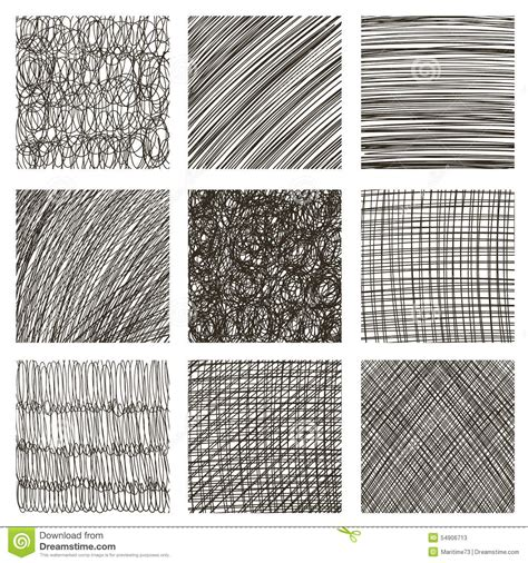 texture pattern sketch vector set of hand drawn squares sketch set of textures