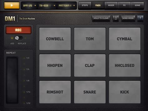 design app machine ui design the drum machine app for ipad