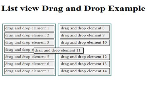 design html page with drag and drop list view drag and drop control using jquery jquery