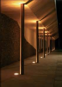 canopy lighting integrated ground lighting exterior