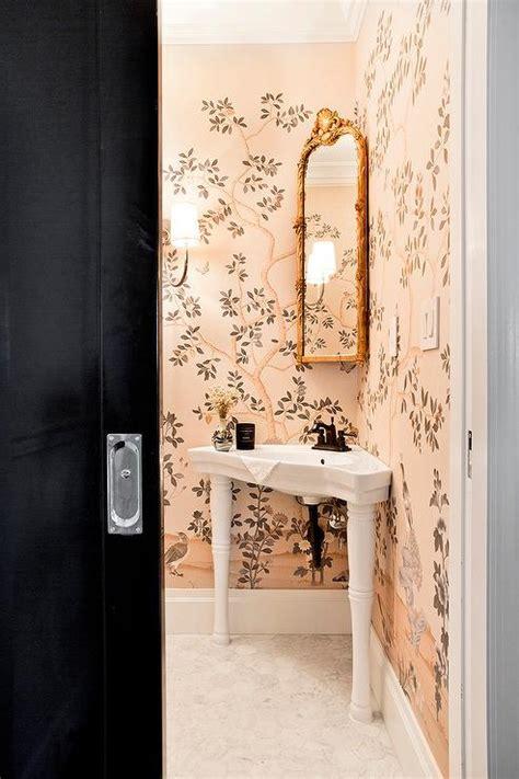 corner powder room sink chinoiserie bathroom design ideas