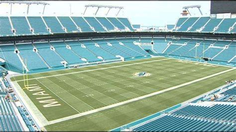 in color at sun stadium in miami gardens sun stadium temporarily changes name to new miami