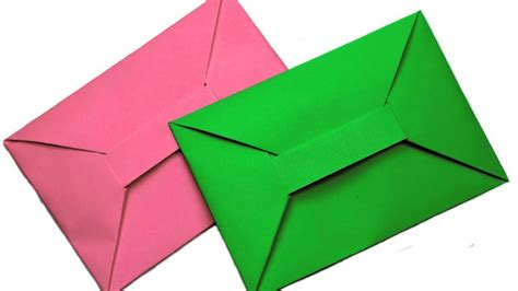 How To Make A Paper Envelope Easy - origami how to make easy origami envelope tutorial how