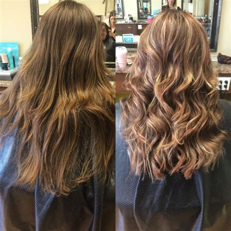 full highlights and half highlights full head of gold red blonde highlights hair