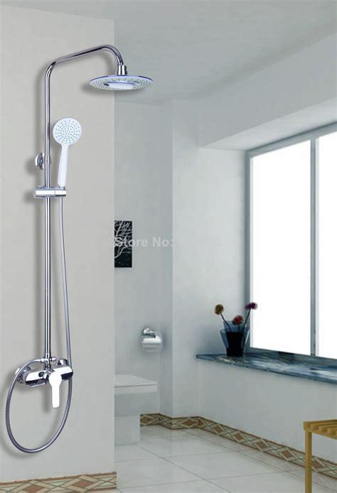 53609 new bathroom rain shower system hand shower head tub