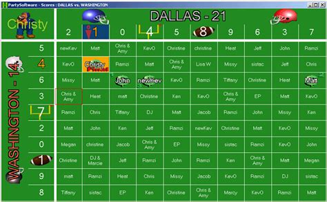 football squares 2004 free download