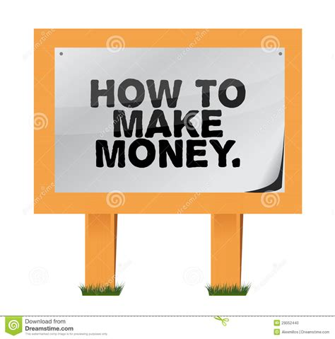 How To Make Money With Your Body Online - how to make money on a wood sign stock photo image 29052440
