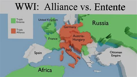 wwi alliance map world war  part  wwi war global