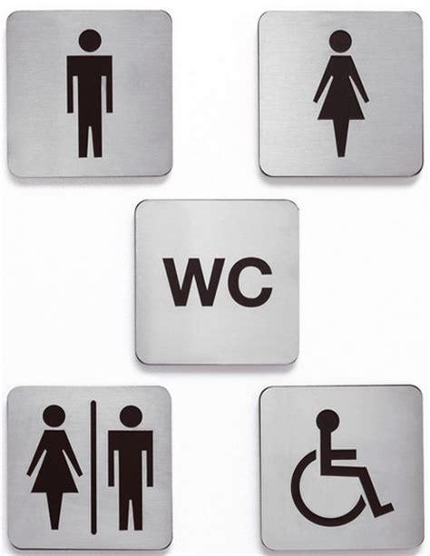 accessori per bagni pubblici targa in acciaio inox satinato adesiva bagno disabili